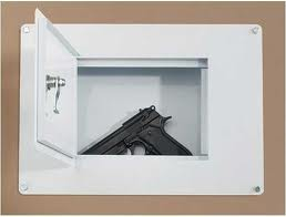 hide gun safe in hidden wall